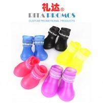 Eco-friendly Waterproof PVC Pet Rainshoes (RPPRS-1)