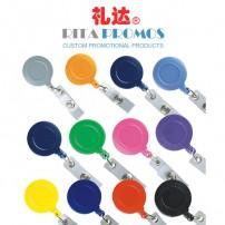 Promo Round Retractable Badge Reel Belt Clip (RPBIDCH-2)
