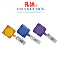 Square Retractable Badge Holder with Clear Color (RPBIDCH-4)