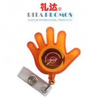 Promotional Gift Hand-shaped Badge Reel (RPBIDCH-10)