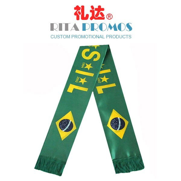 Promotional Printed Football Sports Scarf for Teams & Fans (RPFSS-1)