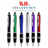 High Quality Advertising Stylus Pens Rubberized Soft Touch Pen (RPPSP-4)