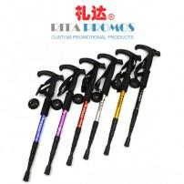 Outdoor Climbing/Mountaineering T-handle Aluminium Alpenstock Walking Stick (RPA-1)