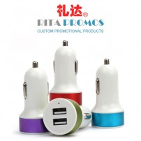 Promotional 2 Ports USB Bullet Car Adapter/Charger/Hubs (RPCA-1)