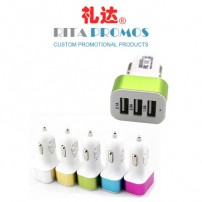 Custom Wholesale 3 Ports USB Car Adapters Chargers (RPCA-2)