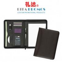 PU Leather A4 Portfolio Case Meeting Folder with Calculator (RPP-1)