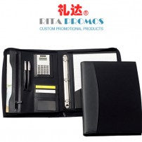 A4 PU Leather Briefcase Portfolio/Padfolio with Handle for Business Gifts (RPP-5)