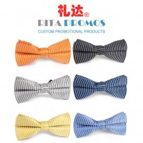 Custom Striped Bow Neck Tie for Business Gifts (RPPBT-2)