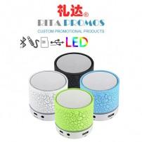 4 Colors Mini Bluetooth Speaker with FM Radio And Flash LED Light (RPPBS-2)