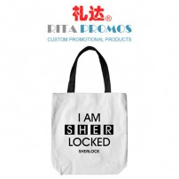 Promotional White Cotton Tote Bags Shopping Grocery Totes (RPCTB-1)