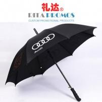 "27"" Black Golf Umbrella with Strong Frames & Ribs (RPUBL-011)"