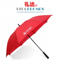 Red Rainstoppers Golf Umbrellas with Customized Logo (RPUBL-017)