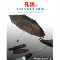 Custom LED Three Fold Promotional Umbrellas (RPUBL-031)