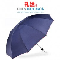 10K Folding Promotional Umbrella with Edge Covering (RPUBL-032)