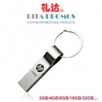 Promotional Metal Pendrive USB Sticks with Keyring (RPPUFD-9)