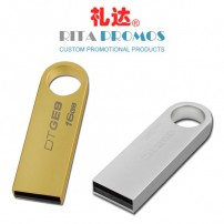 Promotional Metal Pendrive USB Flash Drives with Customized Logo (RPPUFD-10)