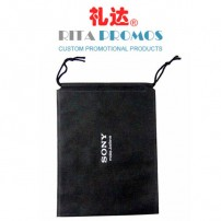 Black Promotional Non-woven Drawstring Bag (RPNWDB-1)