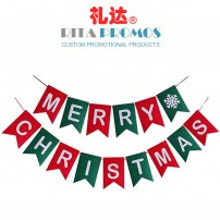 Wholesale Felt Merry Christmas Bunting Banners For Decoration (RPPBF-005)