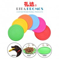Outdoor Sports Kids Toy, Soft Safe Silicone Dog Flying Disc, Flexible Pets Training Fetch Toy (RPKPFD-001)