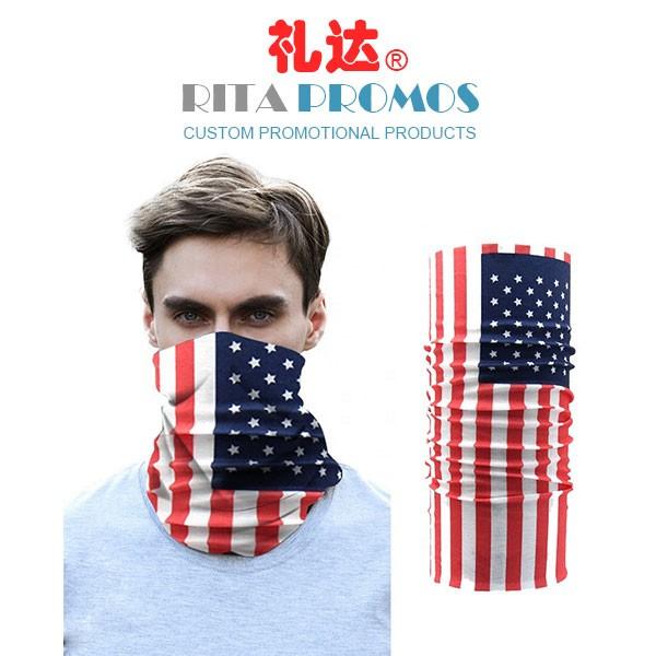 Custom Face Masks Seamless Tubular Bandana Promotional Flag Scarf (RPC-23)