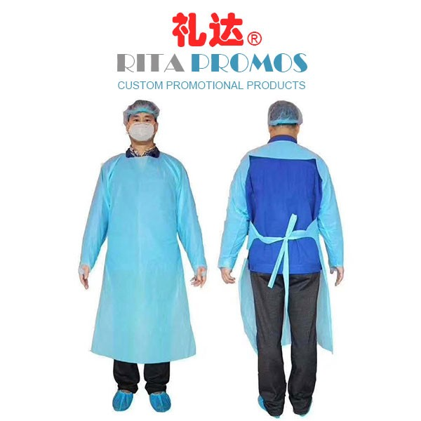 Disposable Isolated Half Gowns Protective Suits Environmental PE CPE PPE Apron (RPIGPHS-002)
