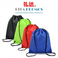 Personalized Promotional 210D Polyester Drawstring Bags (RPPDB-1)