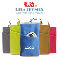 Mobile/Cell Phone Pouch Velvet Drawstring Bags with Double Case (RPVDB-2)