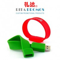 Promotional Silicone Wrist Strap USB Pen Drives (RPPUFD-5)