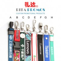 Key/ID Card/Badge Lanyards with Silk Screen Printing (RPPL-5)